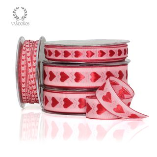 A'MORE HEART PINK/RED 25mmX25M