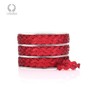 METALLIC RIC-RAC RED 6mmX25M