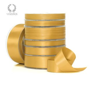 DOUBLE SATIN ANTIQUE GOLD 25mmX25M