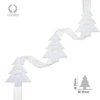 FELT TREES WHITE 10MTRS