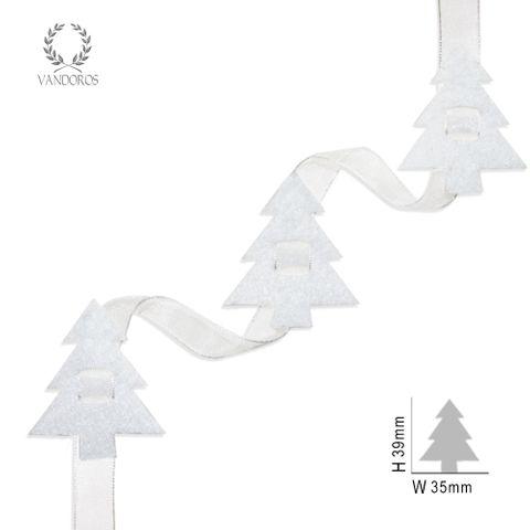 FELT TREES WHITE
