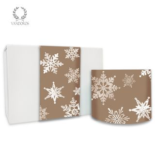VINTAGE SNOWFLAKE UNCOATED SKINNY WRAP FAWN 80gsm 10cmX60M