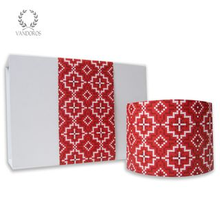 KASBAH UNCOATED SKINNY WRAP FESTIVE (RED/WHITE) 80gsm 10cmX60M