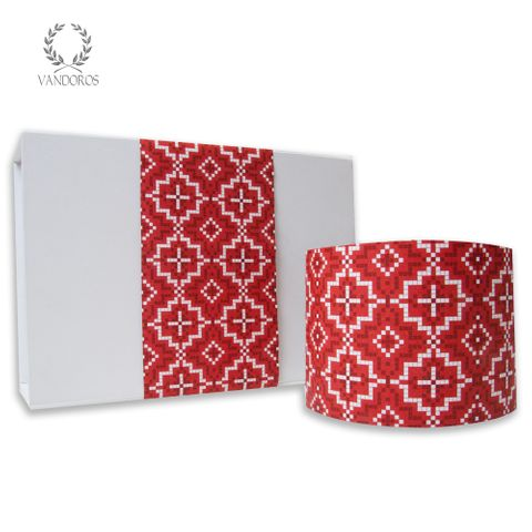 SKINNY WRAP KASBAH UNCOATED FESTIVE (RED/WHITE) 80gsm