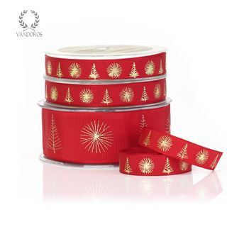 CHRISTMAS TWIGS RED/GOLD 38mmX25M