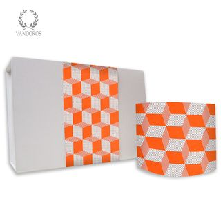 CUBIC UNCOATED SKINNY WRAP ORANGE/WHITE 80gsm 10cmX60M