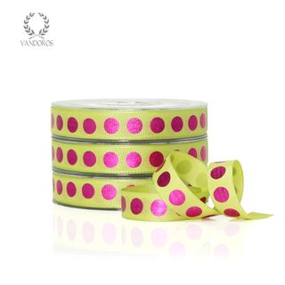 SPOTTY LIME/FUCHSIA 15mmX50M