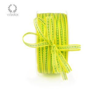GEORGIE YELLOW/LIME 6mmX100M