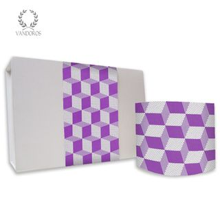 CUBIC UNCOATED SKINNY WRAP VIOLET/WHITE 80gsm 10cmX60M