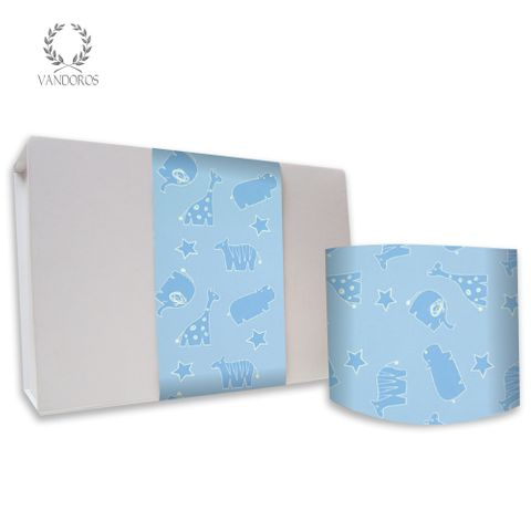 SKINNY WRAP GLOSS BABY ANIMALS BLUE 80gsm
