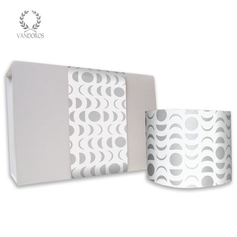 SKINNY WRAP LUNAR UNCOATED WHITE/SILVER 80gsm