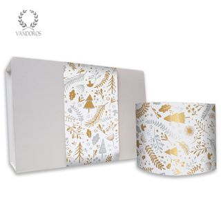 ENCHANTED UNCOATED SKINNY WRAP GOLD/SILVER 80gsm 10cmX60M