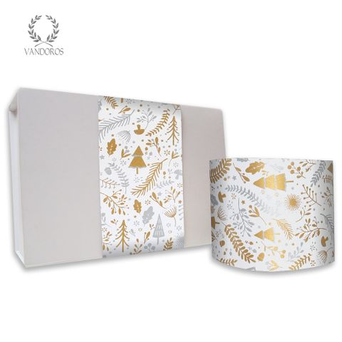 ENCHANTED UNCOATED SKINNY WRAP GOLD/SILVER 80gsm