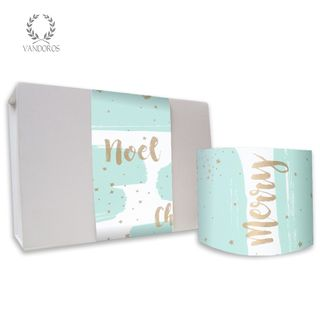 WISHES UNCOATED SKINNY WRAP ICY BLUE/GOLD 80gsm 10cmX60M