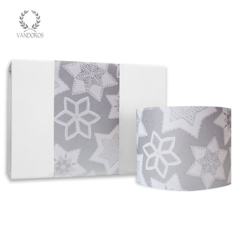 SKINNY WRAP CHRISTMAS COOKIES UNCOATED SILVER/WHITE 80gsm