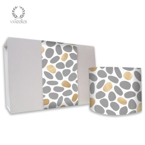 SKINNY WRAP - UNCOATED PEBBLES GREY/GOLD