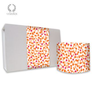 "CONFETTI UNCOATED SKINNY WRAP ""SUNSET"" ORANGE/FUCHSIA 80gsm 10cmX60M"