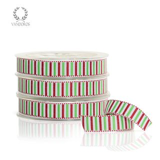 WOVEN STRIPE RED/GREEN 16mmX25M
