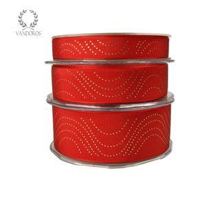 CHANDELIER RED/GOLD 25mmX25M