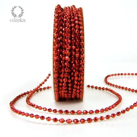 BK-Y06-RED RED BEADS ON STRING