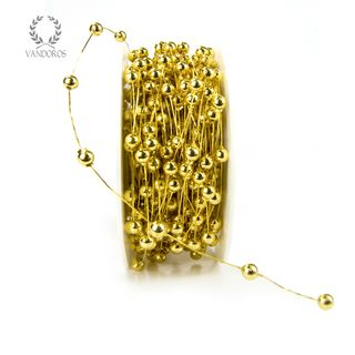 BK-Y03-39 GOLD PEARLS WIRED 20M