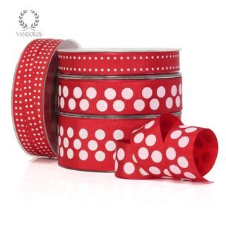 ZOE FLORENCE SPOTS RED/IRIDESCENT 25mmX25M