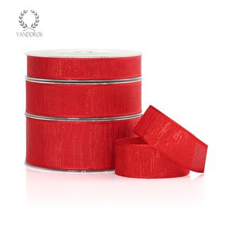 METALLIC TAFFETA RED 25mmX25M