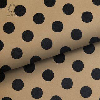 PEARLS KRAFT PAPER BLACK/KRAFT 70gsm 60cmX60M