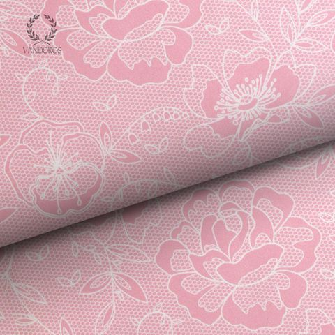 CECILE LACE UNCOATED PINK 80gsm
