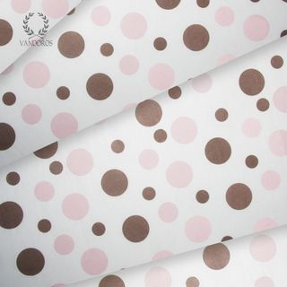NEAPOLITAN DOTS SATIN WRAP PRINT TISSUE PAPER 200 SHEETS