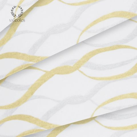 METALLIC RIBBON SATIN WRAP PRINT TISSUE PAPER 200 SHEETS