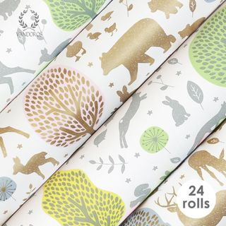 BOX UNCOATED WILLOW COLLECTION 76cmX2.5M 24 ROLLS