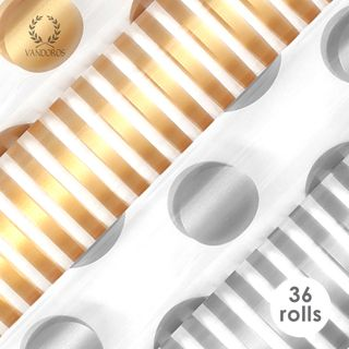 PRINTED CELLO GOLD/SILVER COLLECTION 40 MICRON 60cmX3M 36 ROLLS