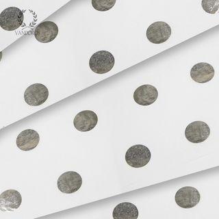 WHITE/SILVER HOT SPOT SATIN WRAP TISSUE PAPER 200 SHEETS
