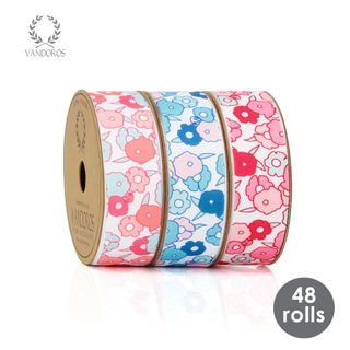 BOX CHLOE PRINTED RIBBON 25mmX3M 48 ROLLS