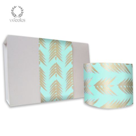 FOREST UNCOATED SKINNY WRAP ICY BLUE/GOLD 80gsm