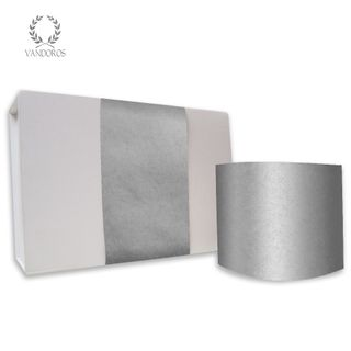 SKINNY WRAP PLAIN UNCOATED SILVER 80gsm 10cmX60M