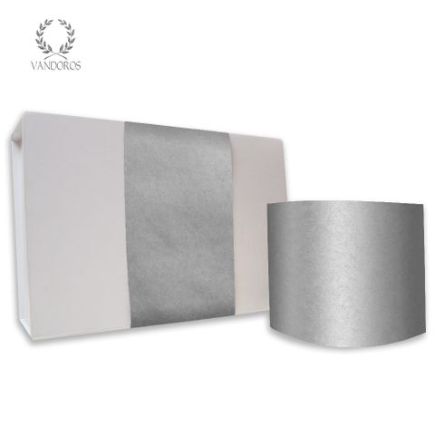 PLAIN UNCOATED SKINNY WRAP SILVER 80gsm