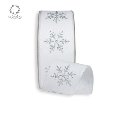 CRYSTAL SNOWFLAKE PRINTED TAFFETA WHITE/SILVER