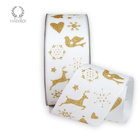 CHRISTMAS TALE PRINTED TAFFETA WHITE/GOLD