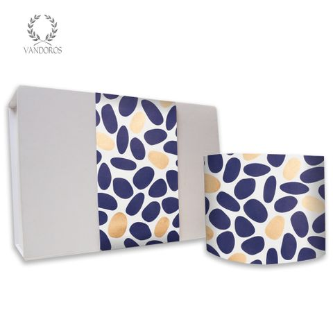 SKINNY WRAP - UNCOATED PEBBLES NAVY/GOLD