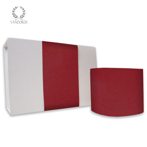 SKINNY WRAP PLAIN UNCOATED SPICE RED 80gsm