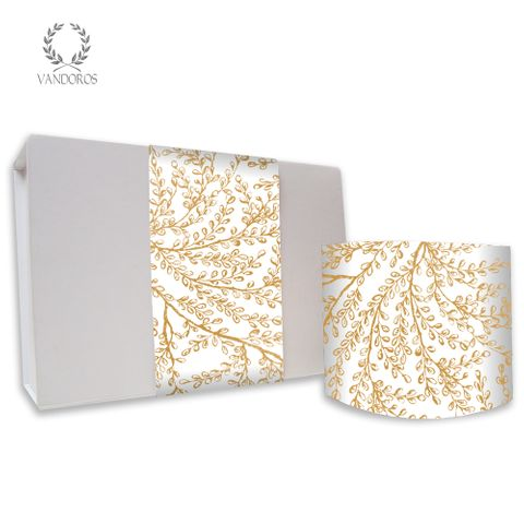 SKINNY WRAP HARMONY UNCOATED WHITE/GOLD 80gsm