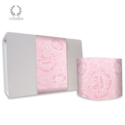CECILE LACE UNCOATED SKINNY WRAP PINK 80gsm