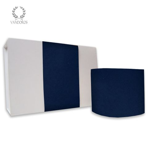 SKINNY WRAP PLAIN UNCOATED NAVY 80gsm