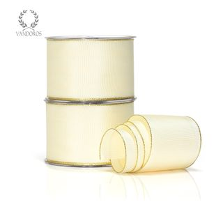 LOUIS IVORY/GOLD 65mmX25M