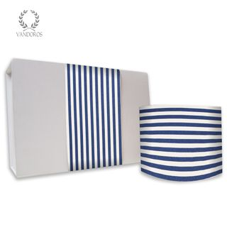CANDY STRIPE UNCOATED SKINNY WRAP NAVY 80gsm 10cmX60M