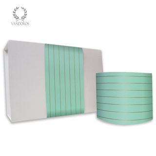 PINSTRIPE UNCOATED SKINNY WRAP MINT/GOLD 80gsm 10cmX60M