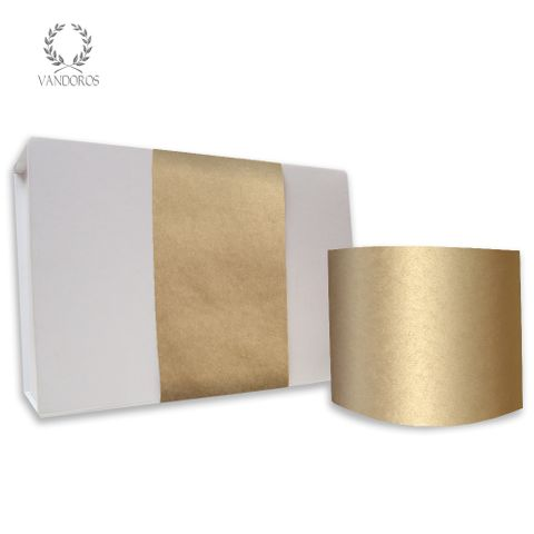 PLAIN UNCOATED SKINNY WRAP GOLD 80gsm