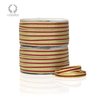 L2202-WRAP-100 RED/GOLD/GREEN 6mmX100M
